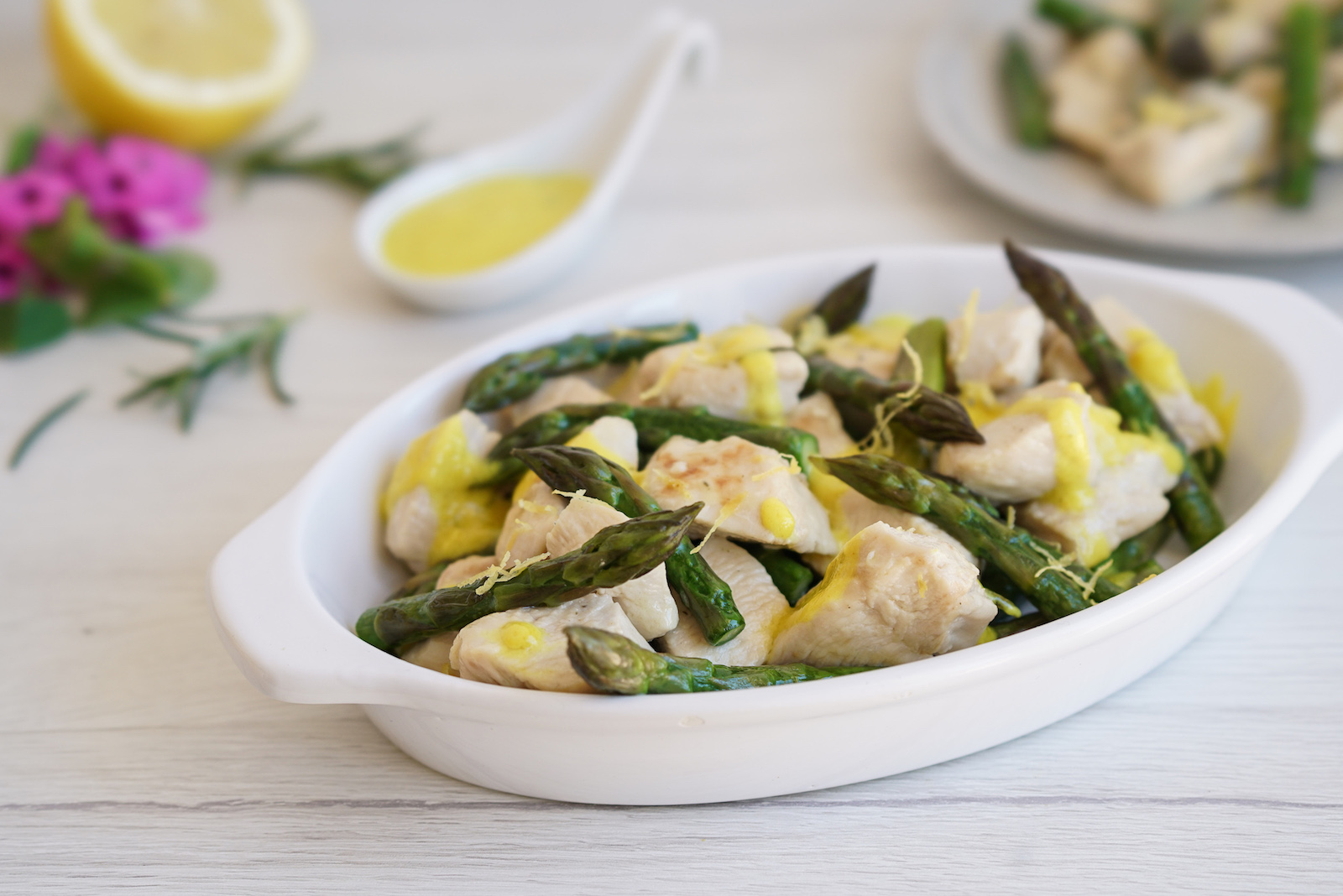 AIP Lemon Chicken with Asparagus - AIP Italian Food Recipes from the AIP Italian Cookbook