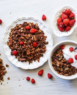 Healthy Dark Chocolate Granola