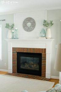 Fresh and Simple Fireplace Mantel Decor