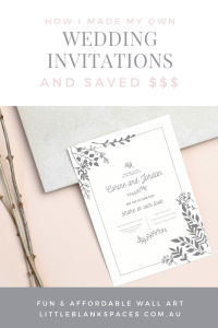 DIY wedding & engagement invitation. Cutting your budget doesn't mean cutting back on quality - these vintage wedding invites are inexpensive & elegant.