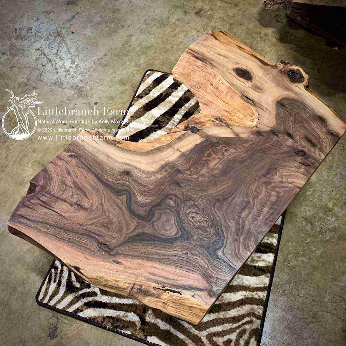 rustic wood slab coffee table littlebranch farm