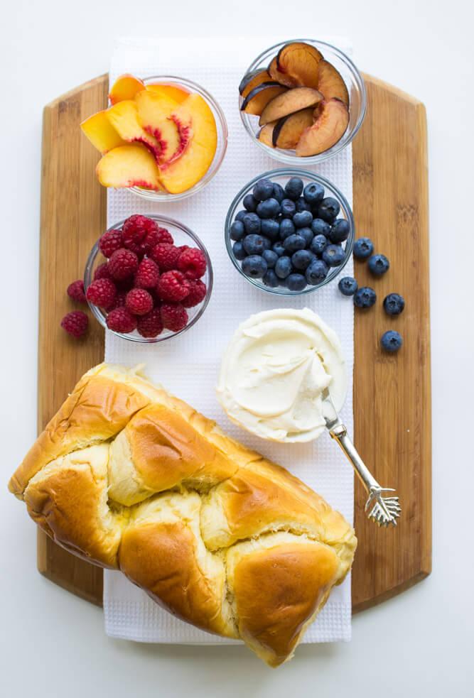 Breakfast Fruit Toast with Honey-Vanilla Mascarpone