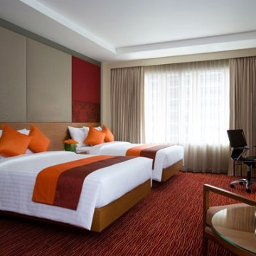 Courtyard by Marriott Bangkok family hotel room