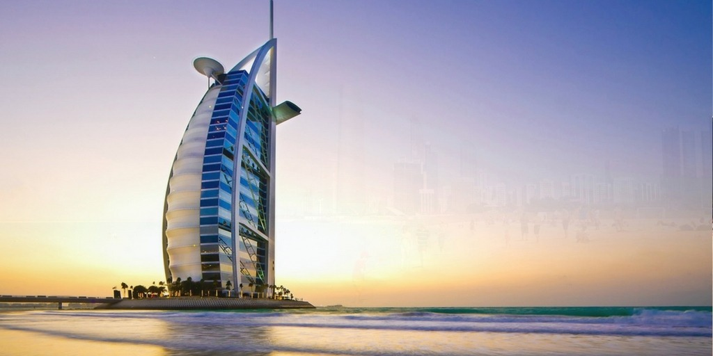 Dubai sunset beach with view of Burj al Arab   Things to do in Dubai with Kids Little City Trips