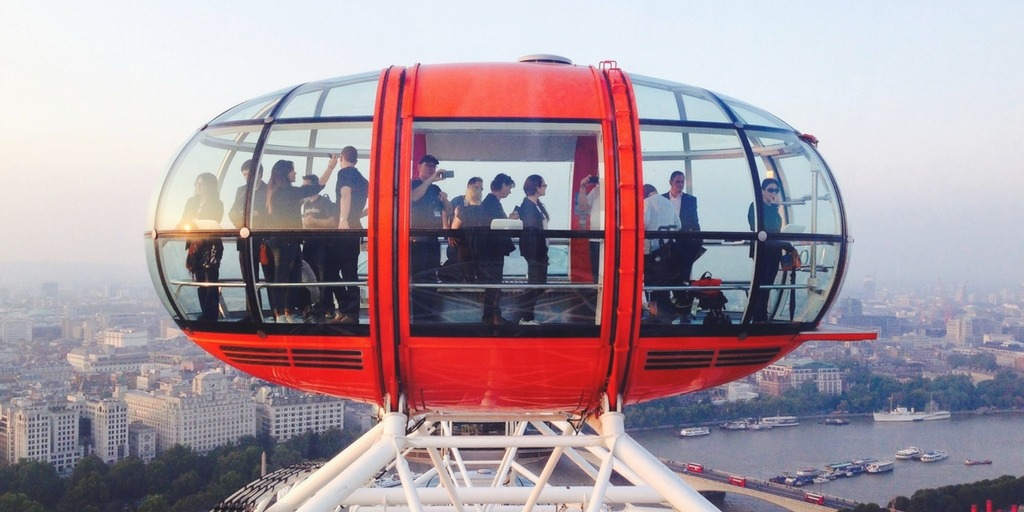 London Eye Ferris Wheel Capsule with view over London | Fun Family Things to Do in London | Little City Trips City Travel Experts