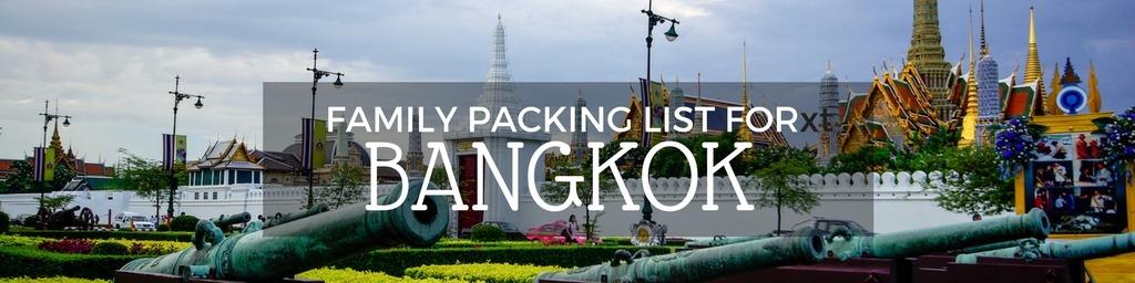 Bangkok Packing list
