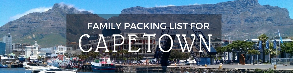Family packing list Cape Town