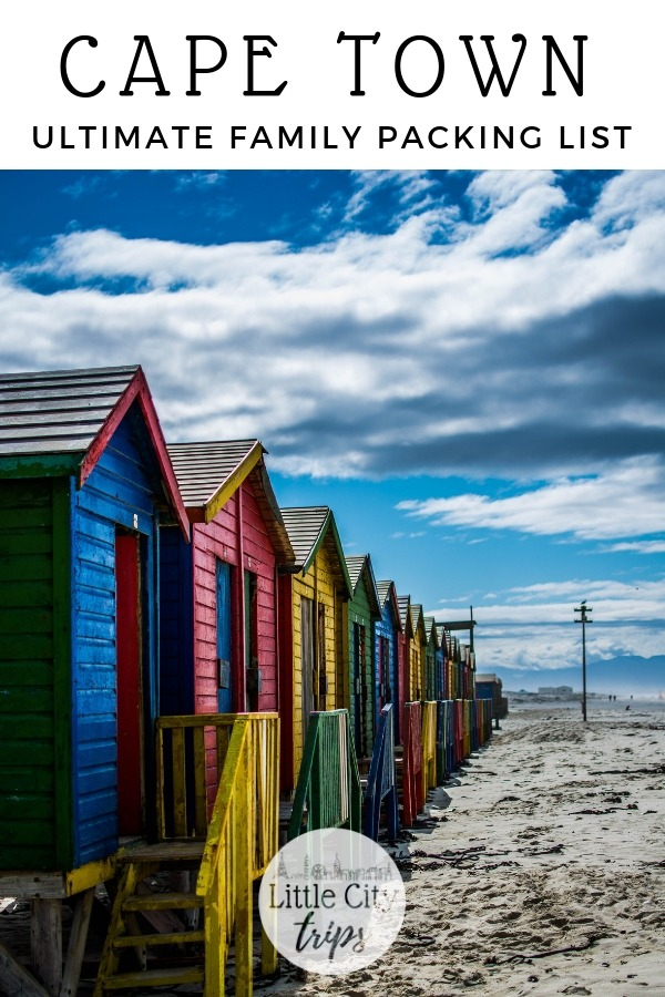 Travelling to Cape Town? City travel experts Little City Trips talk you through all the most important items you need to pack for Cape Town. Print off our Cape Town packing list for your next city trip.