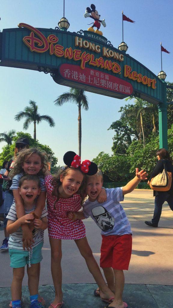 Hong Kong Disneyland Kids