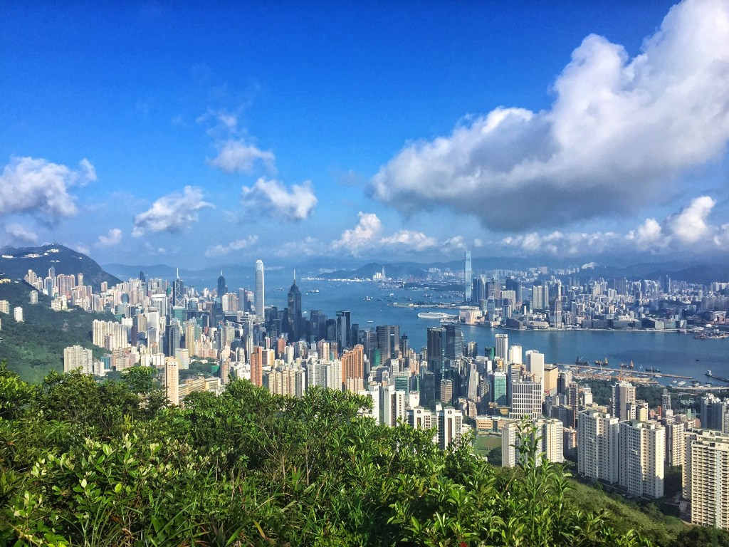 View of Hong Kong City from above