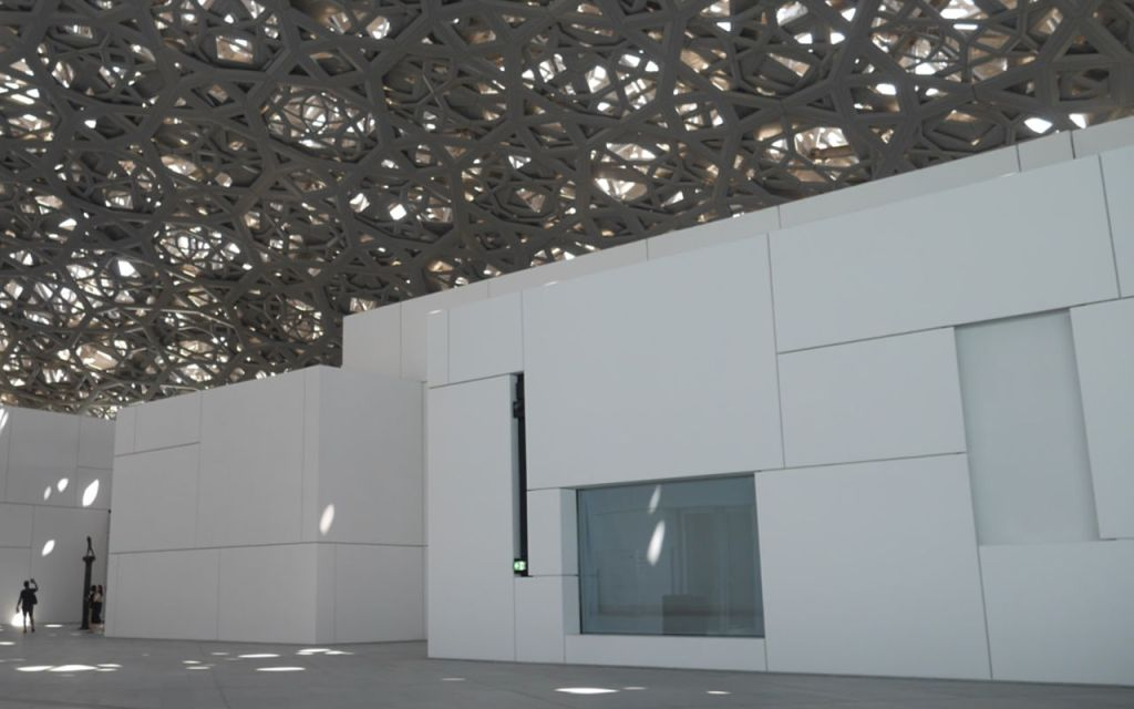 Insidet the Louvre Museum in Abu Dhabi
