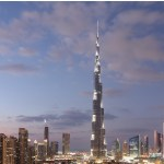 Dubai in one day - view of Burj Khalifa and Dubai lighting up at Night