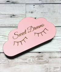 SWEET DREAMS CLOUD l GLITTER NURSERY DECOR ...