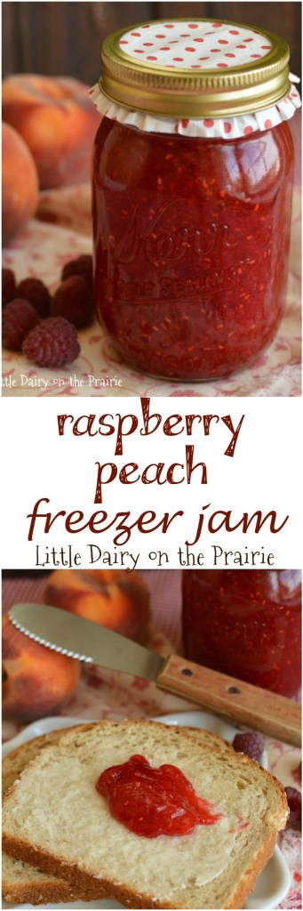Go to the farmers market and grab some raspberries and peaches and make a batch of freezer jam. I'll show you how easy it is! You will never buy store bought jam again!