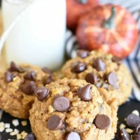 Pumpkin Chocolate Chip Cookies with Oatmeal