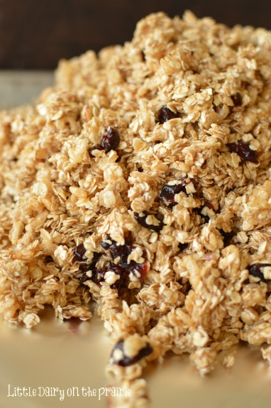Cranberry Almond Granola! A few tricks for making the best granola ever! Little Dairy on the Prairie