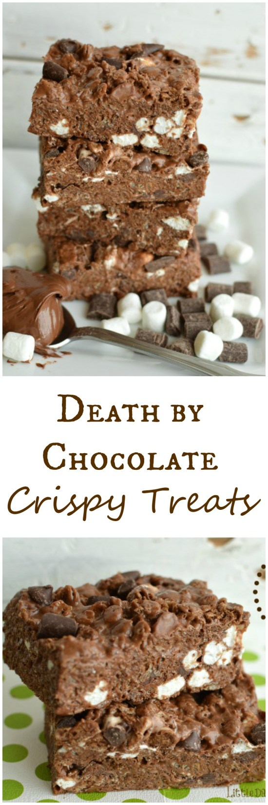 You can't go wrong by adding Nutella, chocolate chunks, chocolate chips, chocolate crispies to rice crispy treats! These are my new favorite! Little Dairy on the Prairie