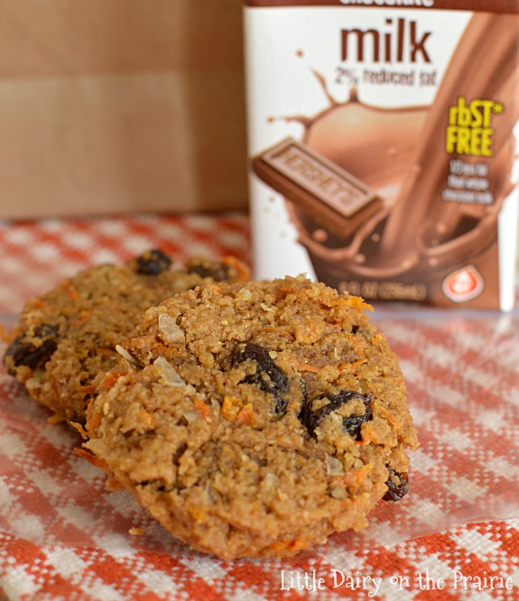 Carrot cookies are a healthy choice for an on the go breakfast! These freeze well too! Little Dairy on the Prairie