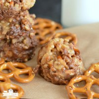 No Bake Peanut Butter Pretzel Cookies