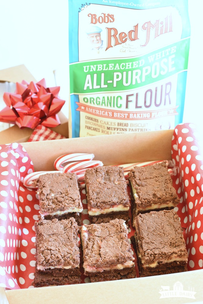 Peppermint Bark Chocolate Streusel Bars - and a guide for gift giving