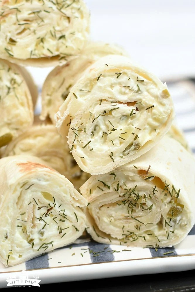 Dill Pickle Rollups - super yummy party food