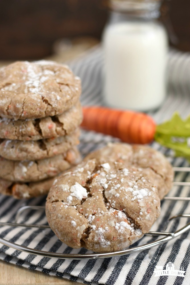 Carrot Cake Gooey Butter Cookies- ingredients and steps