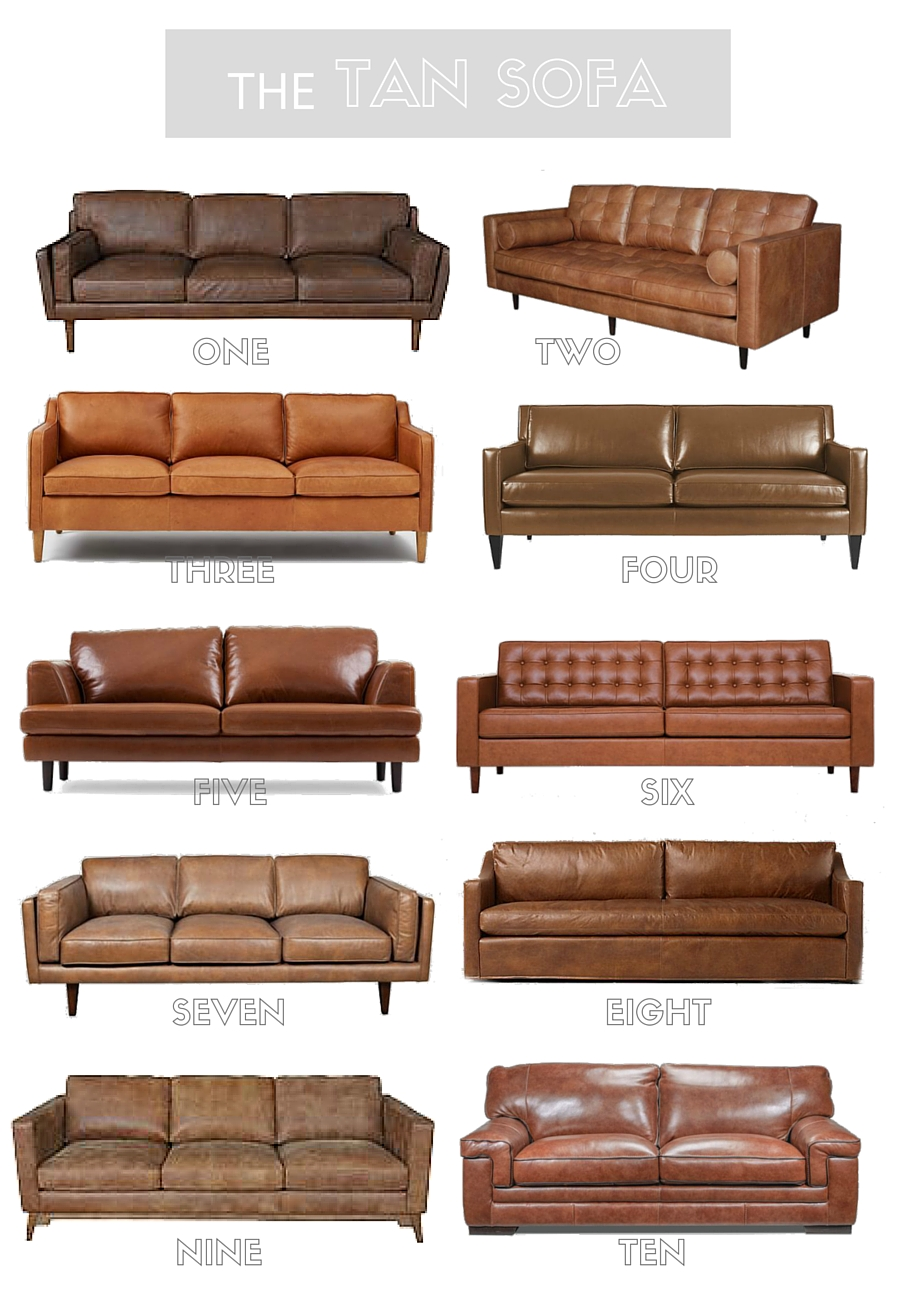 Tan Leather Sofa Round Up Little Dekonings