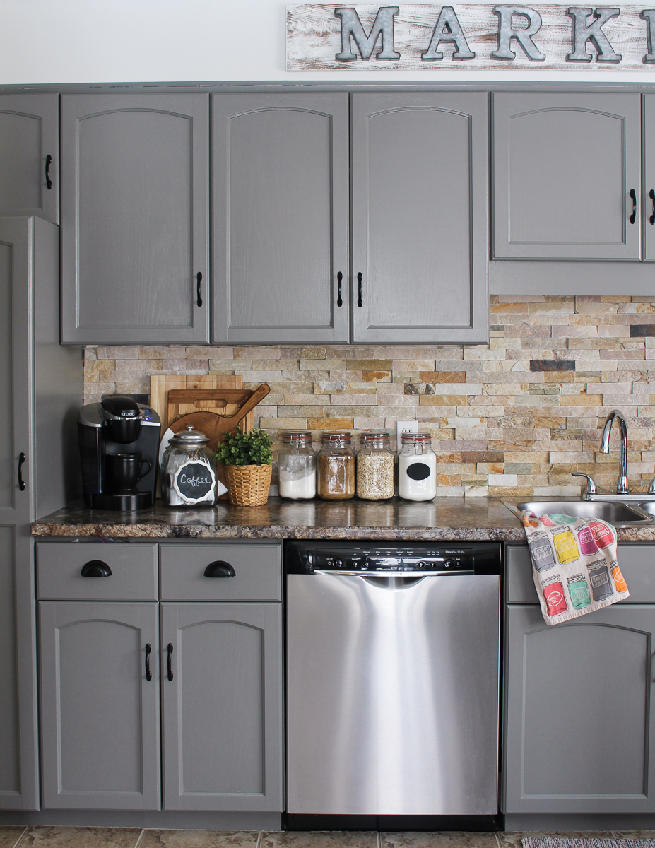 our kitchen cabinet makeover rh littledekonings com
