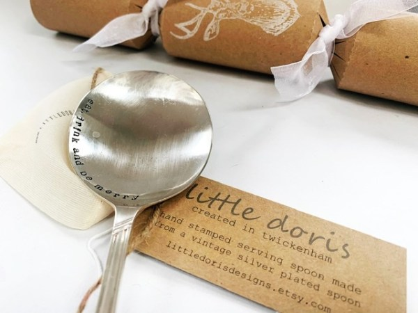 Christmas serving spoon