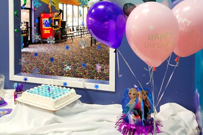 Justine Young, mom and lifestyle blogger, shares a story about letting go of control and a sponsored birthday party post with Oriental Trading Company.