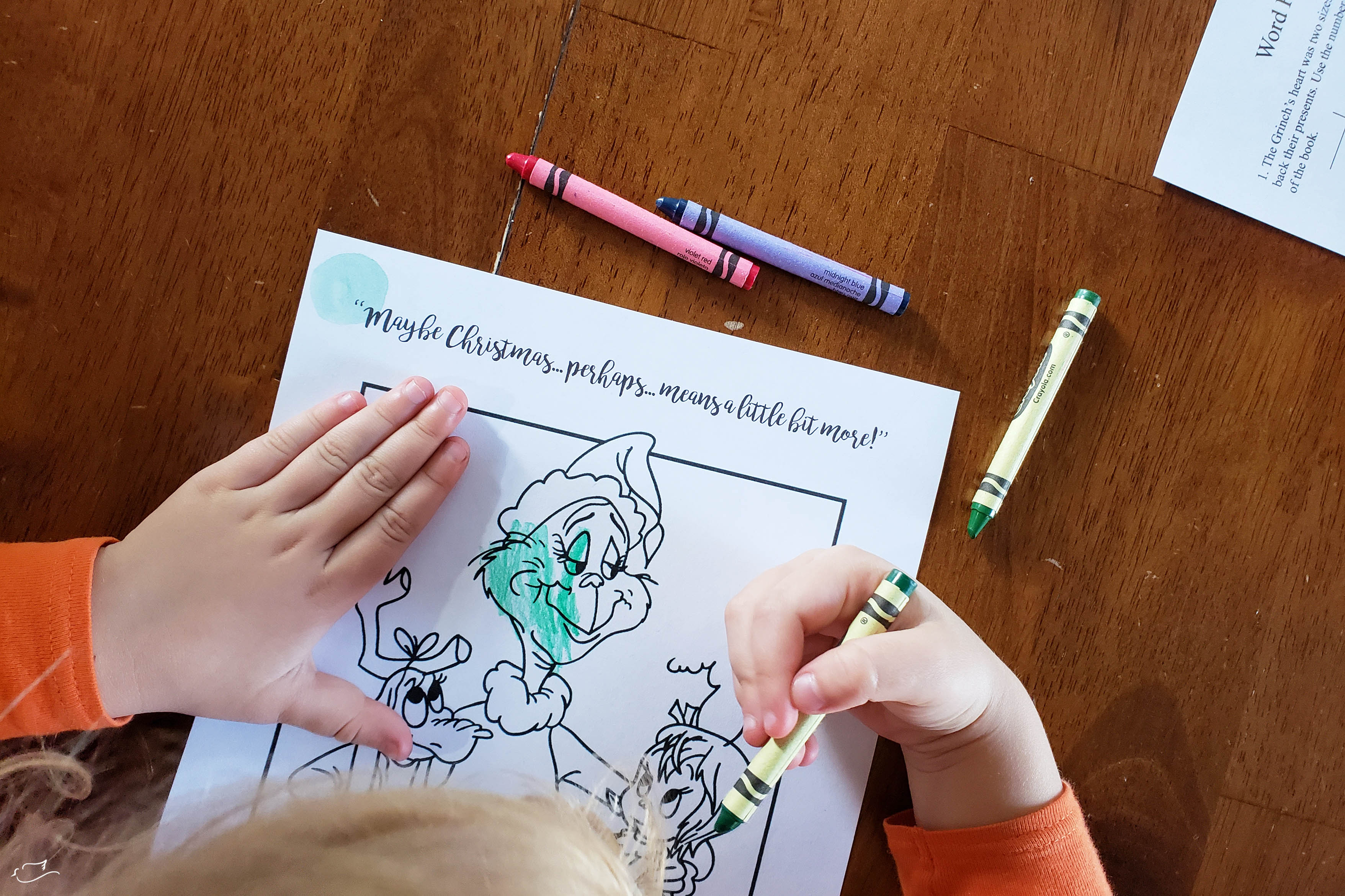 medium resolution of how the Grinch stole Christmas worksheets - Little Dove Blog