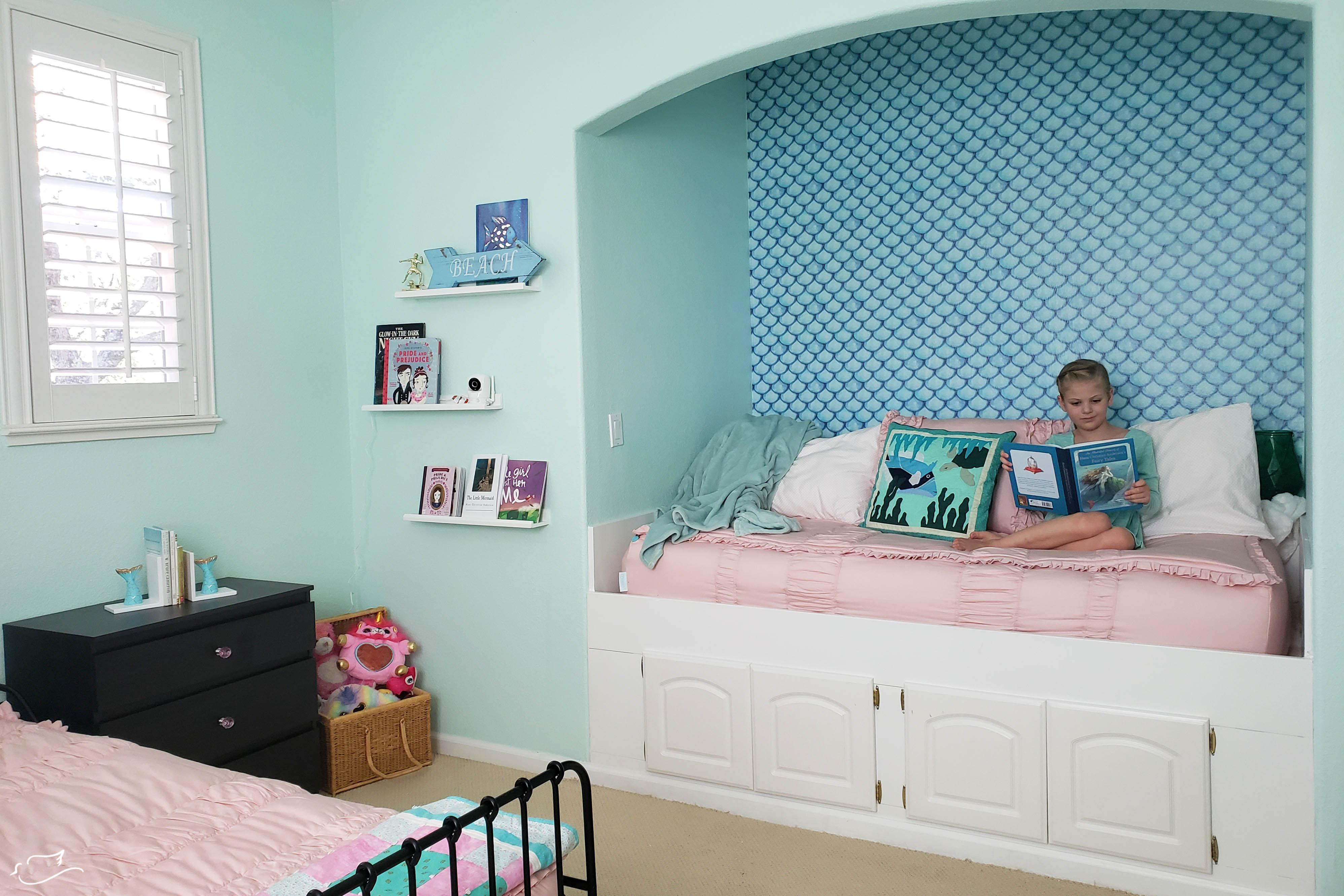 A Mermaid Bedroom For A Little Girl Little Dove Blog