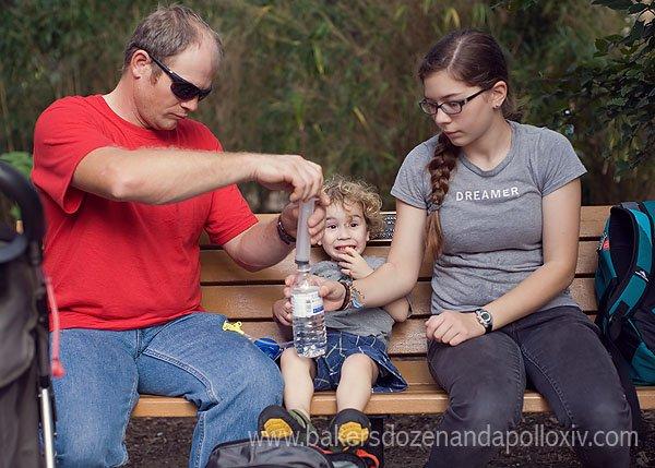 Apollo being fed through his g-tube at the Houston Zoo.