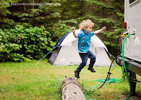 curly hair toddler, curly haired toddler, toddler curly hair, curly haired boy, large family, large family blog, camping large family, camping pacific northwest, double aortic arch, vascular ring, g-tube, tube fed