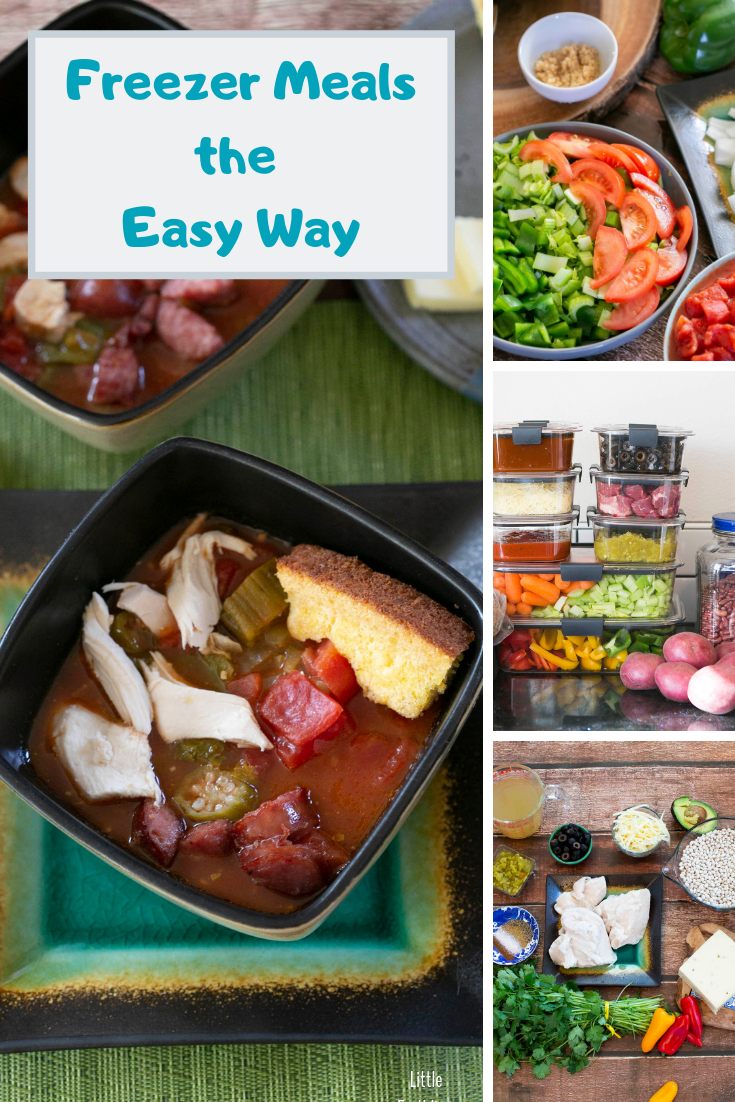 How to make freezer meals the easy way. These tips and tricks will help you be efficient in the kitchen.