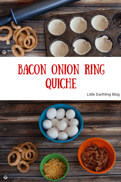 This Bacon Onion Ring Quiche is amazing! Every bit has a surprise of onion ring the flavor or crispy bacon. Easy to made with only a few ingredients.