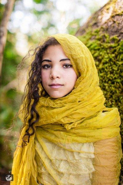 Stunning image of nine year old girl