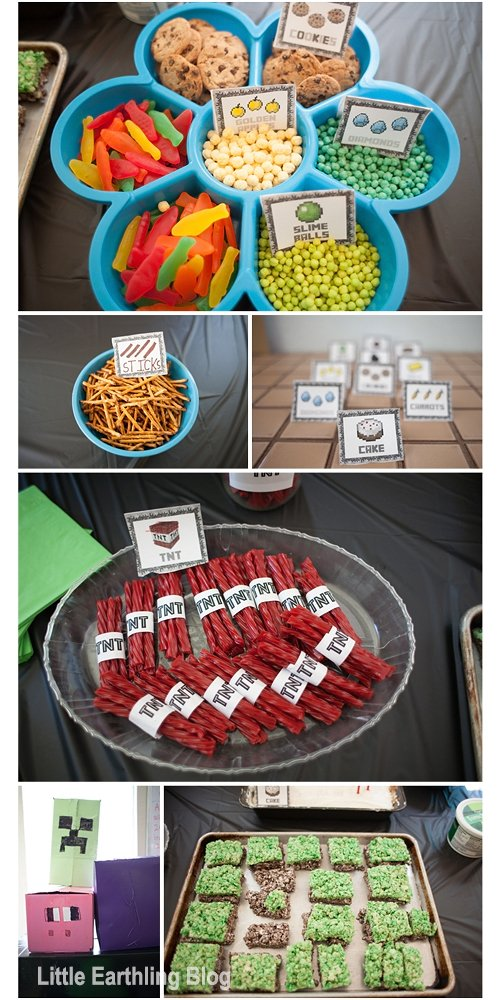 Food ideas for a Minecraft Party