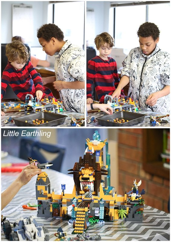 Team work to build the Lion Temple.
