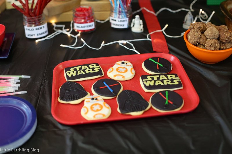 Star Wars Cookies made and decorated by Tilly.