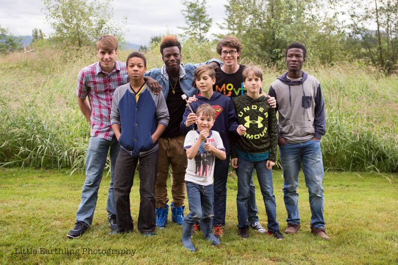 All 8 of our sons. Large FAmily.