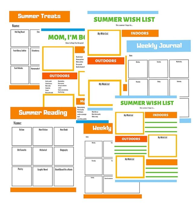 Free Printable Summer Survival Kit