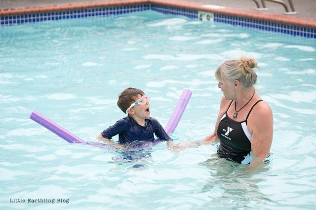 My kids just finished a week of Safety Around Water by the YMCA. Swimming lessons