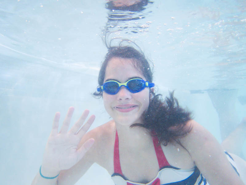 Swimming in cat pee; every mother's dream. At least I have the Olympus TG-4 underwater camera to help capture the memories.