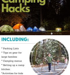 the ultimate list of large family camping hacks  [ 735 x 1102 Pixel ]
