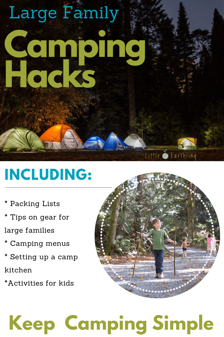 medium resolution of the ultimate list of large family camping hacks