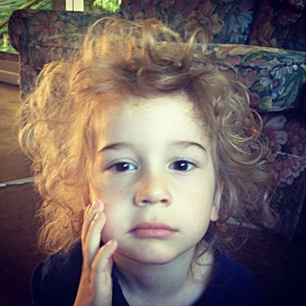 Some things are just a bad idea. But Crazy Hair Day? Apollo had that one nailed as a three-year-old