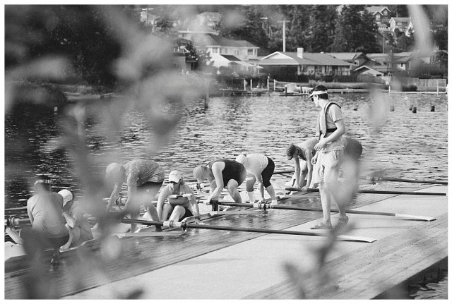 Rowing team at Lake Whatcom