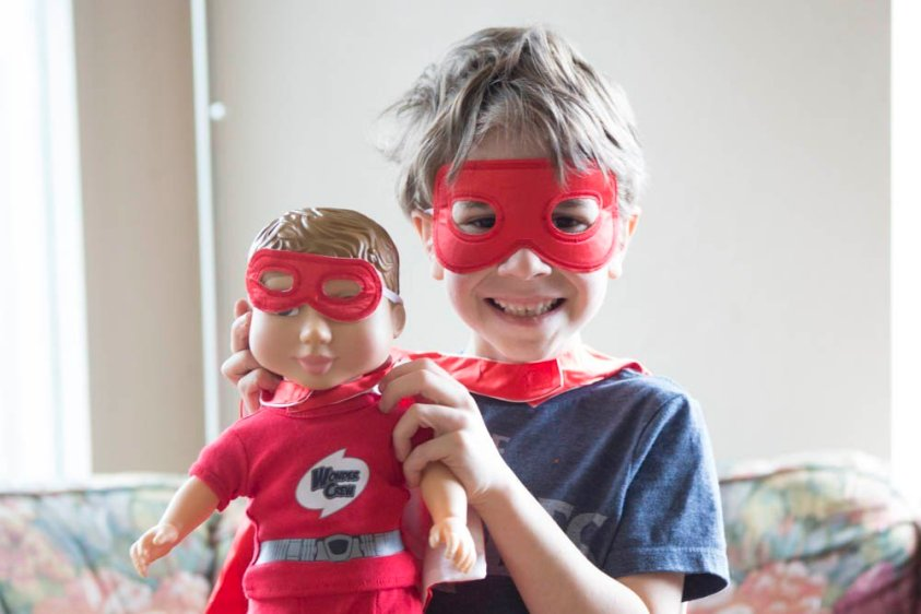 Wonder Crew Superhero Doll is great for encouraging imagination.