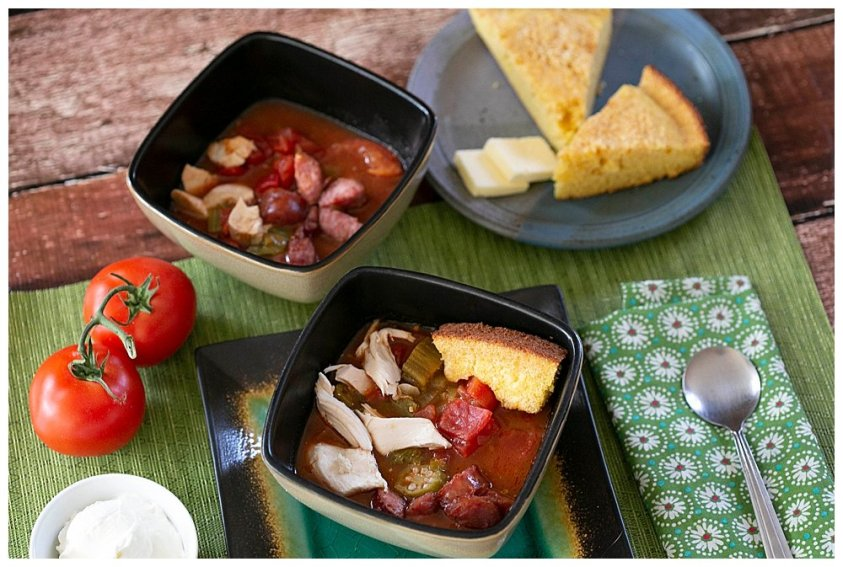 Easy chicken gumbo recipe for large families.